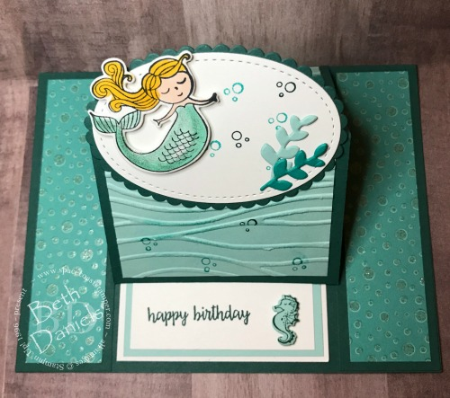 Mermaid-Easel-Card