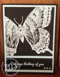 Butterfly embosses