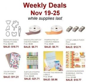 Nov 19 Weekly Deals