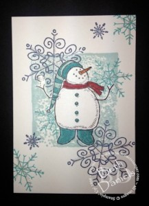 Snowman Notecard