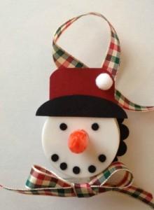 snowman tealight