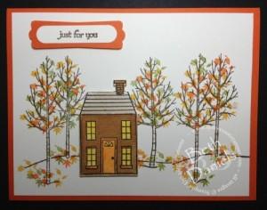 Fall Trees & House