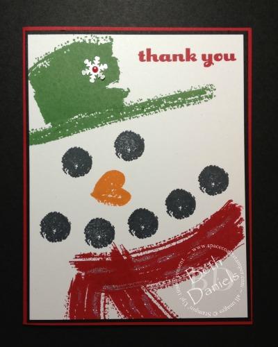 Snowman Thank You