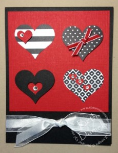 Blk & Red Hearts