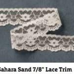 Sahara SAND LACE TRIM