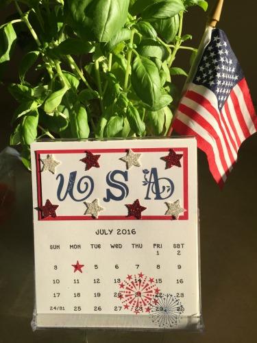 CD Calendar July '16 with flag
