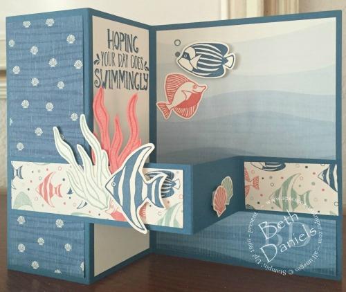 Fish Z-fold card