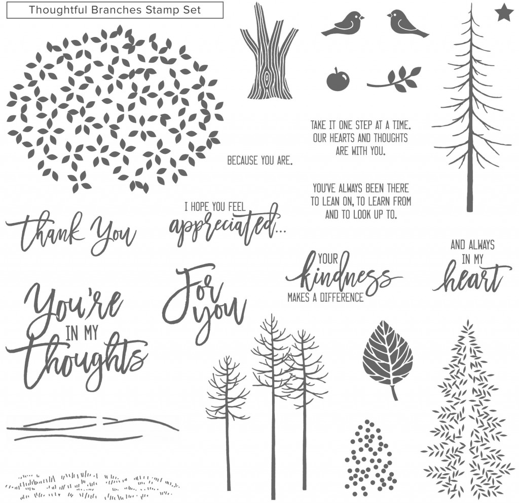 thgoughtful branches stamps