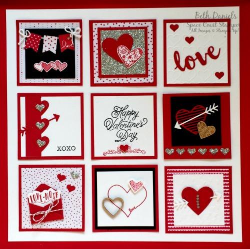 12 Valentine Sampler