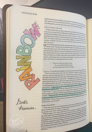 Rainbow Bible Journaling